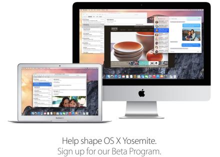 Apple seeds OS X Yosemite Public Beta 6 to testers